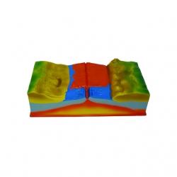 Model posuvu litosférických platní a vznik sopky