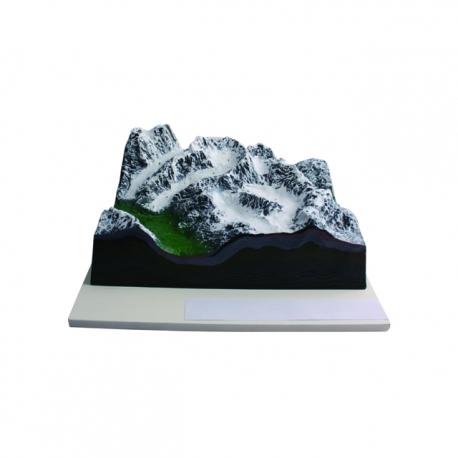 Model zasnežených hôr