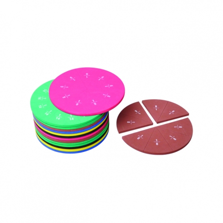 Magnetické úlomky kruhu, možné spojiť a vytvoriť kruh