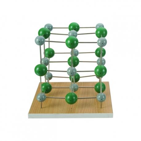 Model chloridu sodného, s väzbami