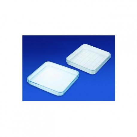 Plastová Petriho miska, štvorcová