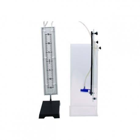 Mini-manometer s vodnou nádržkou