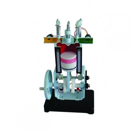 Model dieslového motoru