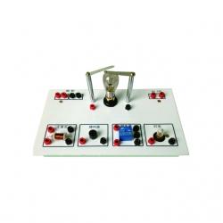 Demonštrátor bimetálového pruhu kontroly teploty